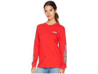 Vans Flame Check Long Sleeve Boyfriend T-Shirt