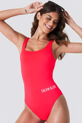 Calvin Klein Square Scoop One Piece RP N