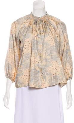 Tucker Silk Long Sleeve Top