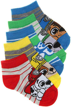 Nickelodeon Paw Patrol No Show Socks - 5 Pack - Boy's
