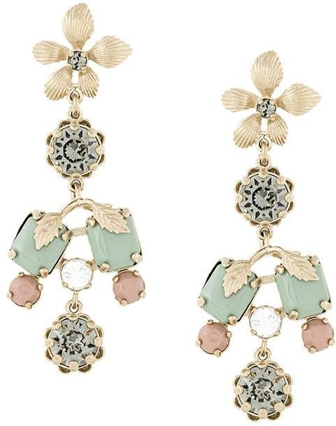 RED ValentinoRed Valentino flower motif earrings