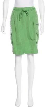 Magaschoni Silk-Blend Knee-Length Skirt w/ Tags