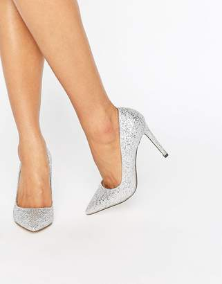 Call it Spring Call It Spring Nusa Silver Pumps $64 thestylecure.com