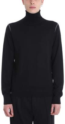 Helmut Lang Black Wool Turtle Neck Sweater