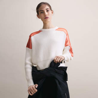 Maje Cropped jumper in full cardigan rib