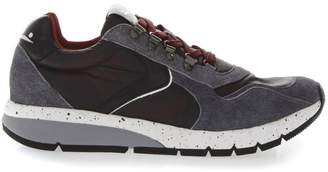 Voile Blanche Lenny Burgundi & Grey Suede & Nylon Sneakers