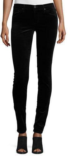 AG JeansAG The Legging Velvet Skinny Jeans, Black