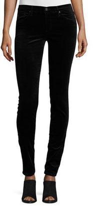 AG The Legging Velvet Skinny Jeans, Black $198 thestylecure.com