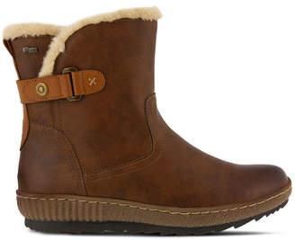Spring Step Womens Milagra Winter Boots Wedge Heel Zip