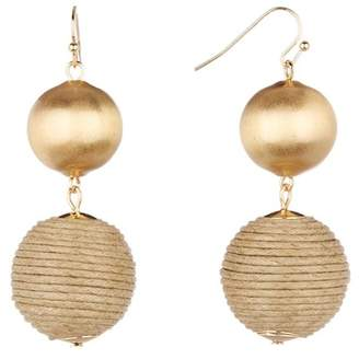 14th & Union Thread & Metal Ball Linear Earrings
