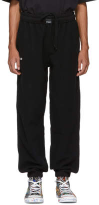 Vetements Black Oversized Inside-Out Lounge Pants