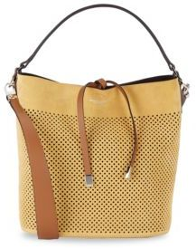MICHAEL Michael Kors Perforated Suede Shoulder Bag
