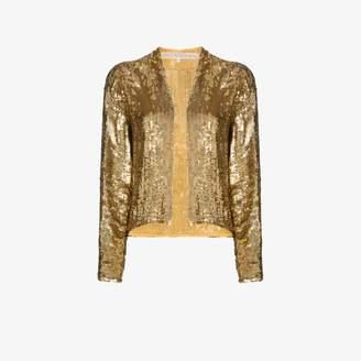 One Vintage embellished satin jacket