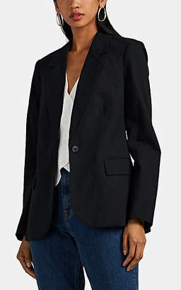 L'Agence Women's Scout Linen-Cotton One-Button Blazer - Black