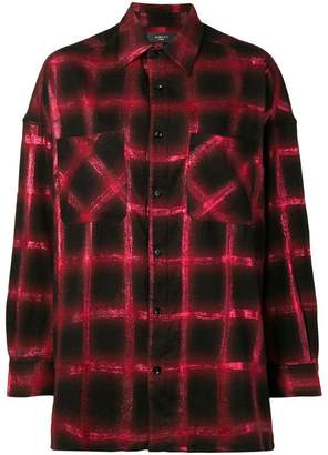 Amiri glitter oversized plaid shirt