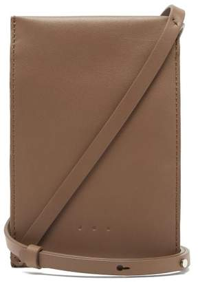 Aesther Ekme - Leather Iphone Case Cross Body Bag - Womens - Brown