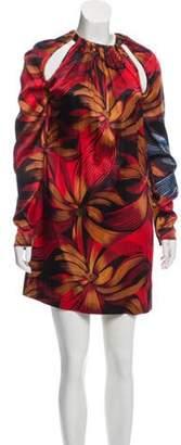 Vionnet Silk Printed Mini Dress w/ Tags Red Silk Printed Mini Dress w/ Tags