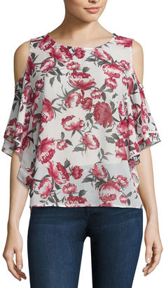 BUFFALO JEANS Buffalo Jeans Cold Shoulder Flutter Top $44 thestylecure.com