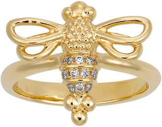 Temple St. Clair Diamond Pave Bee Ring