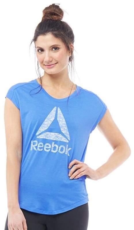 Damen Workout Ready Supremium Speedwick Big Logo T-Shirt Blau