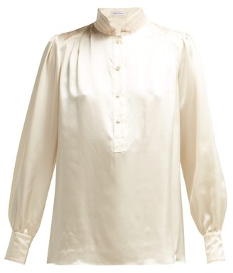 Bella Freud Bus Stop Silk Satin Blouse - Womens - Cream