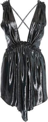 Isabel Marant Kyle Pleated Silk-Blend Dress