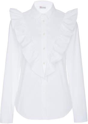 RED Valentino Ruffled Cotton-Blend Shirt