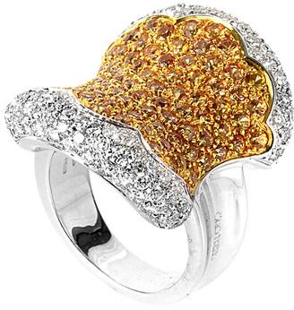 Heritage Oro Trend 18K Two-Tone 5.47 Ct. Tw. Diamond & Sapphire Ring