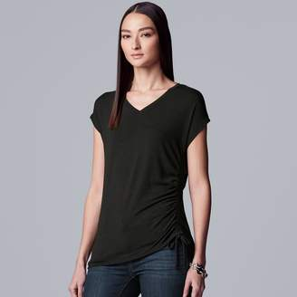 a16a5c35 Vera Wang Women's Simply Vera Everyday Movement Side-Drawstring Tee