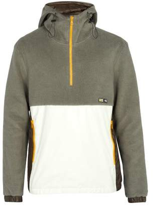 Lanvin Nylon Panel Fleece Jacket - Mens - Grey
