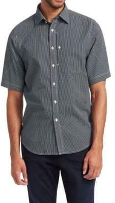 G Star Short-Sleeve Houndstooth Button-Down Shirt