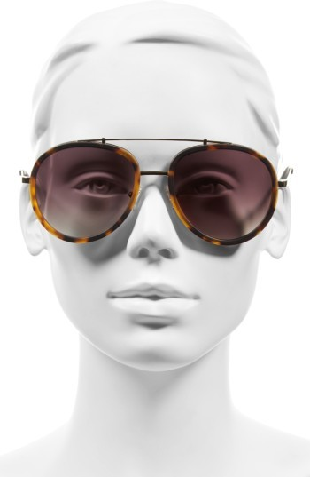 Women's Kendall + Kylie Jules 58Mm Aviator Sunglasses - Matte Demi/ Matte Gold 4