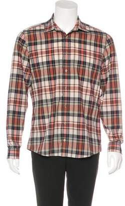 Gucci Plaid Dress Shirt