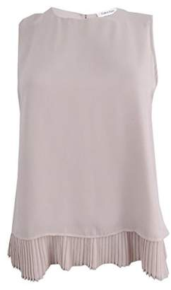 Calvin Klein Women's Pleated Back Top