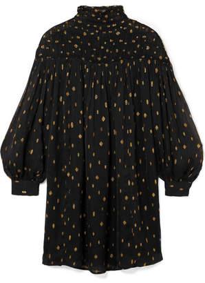 Frame Fil Coupé Georgette Mini Dress - Black