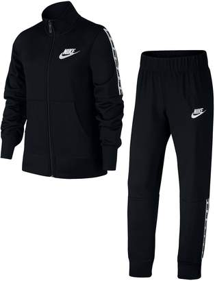 Nike Girls 7-16 Tricot Jacket & Pants Track Suit Set