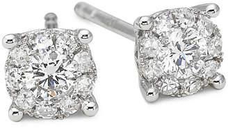 JCPenney FINE JEWELRY Brilliant Dream 1/3 CT. T.W. Round Diamond Stud Earrings 14K White Gold