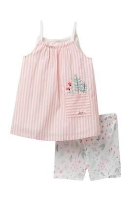 ED Ellen Degeneres Stripe Dress & Floral Print Shorts Set (Baby Girls)