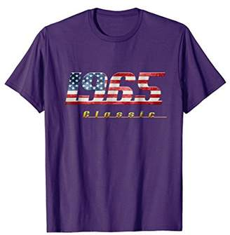 1965 classic shirt vintage retro style with US flag