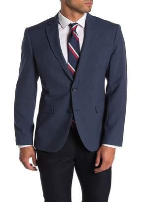 14th & Union Blue Solid Two Button Notch Lapel Trim Fit Suit Separates Jacket