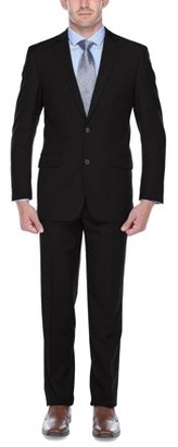 Verno Adessi Big Men's Black Classic Fit Italian Styled Two Piece Suit