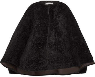 Chloé Shearling Cape - Black