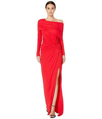 Prabal Gurung Off Shoulder Twist Waist Gown
