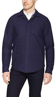 Scotch & Soda Men's Shirt Jacket in Quilted Cotton with Reflective Details