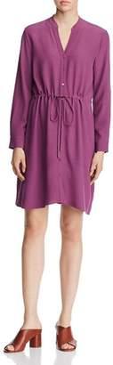 Eileen Fisher Drawstring-Waist Shirt Dress