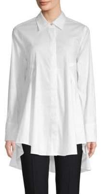 Donna Karan Flared High-Low Button-Down Shirt