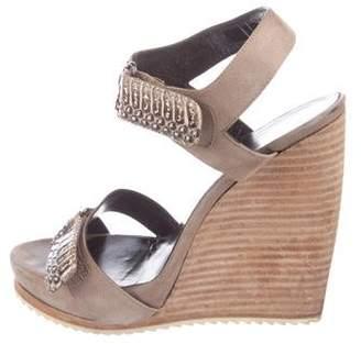 Pierre Hardy Suede Wedge Sandals