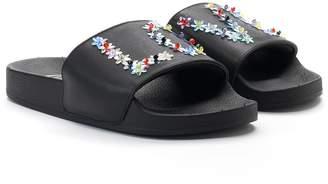 """Candies Candie's Women's Star Stud """"LOVE"""" Slide Sandals"""