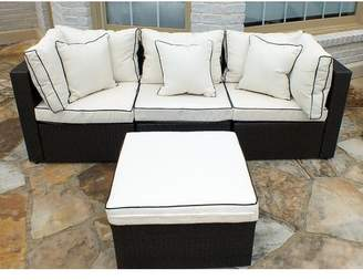 Three Posts Burruss Patio Sectional With Cushions