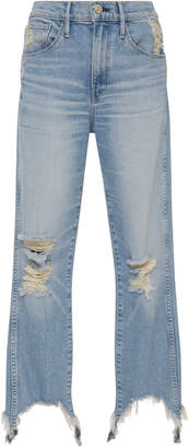 3x1 W3 Distressed Straight-Leg Jeans